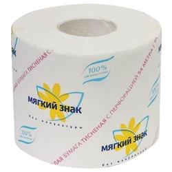 """Мягкий знак туалетная бумага 1слой 1 рулон белая """"М"""""""